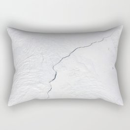 Open water lead above Canada, Arctic Ocean Rectangular Pillow