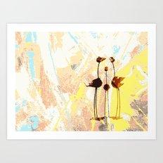 Familie Vogel Art Print