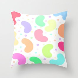 Real Fruit Candy Beans Throw Pillow