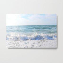 Waves Crashing Metal Print