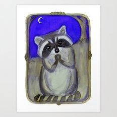 Reginald Raccoon and the Moon Art Print