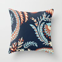 flora Throw Pillows featuring Flora by Tracie Andrews