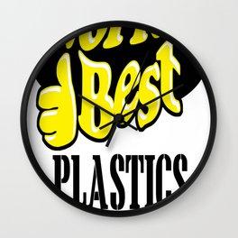 World's best plastics engineer Wall Clock