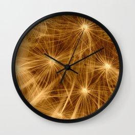 Dandelion art Wall Clock