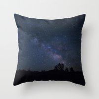night sky Throw Pillows featuring night sky by illustratographer