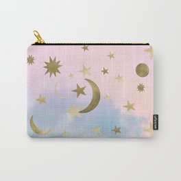 Pastel Starry Sky Moon Dream #1 #decor #art #society6 Carry-All Pouch