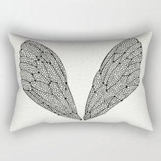 Black Cicada Wings Rectangular Pillow