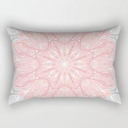 MANDALA IN GREY AND PINK Rectangular Pillow