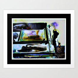 Train Travel Throughout The Years Art Print