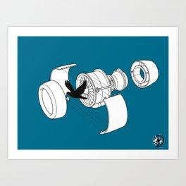 Jet Engine victim Art Print