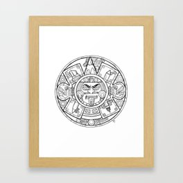 Pencil Wars Shield Framed Art Print