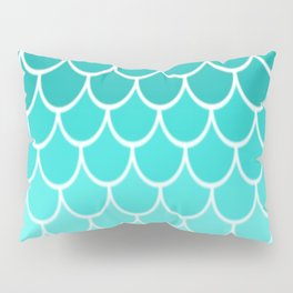 Ombre Fish Scale Pattern Pillow Sham
