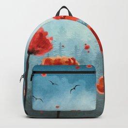 Poppy flowers - Misty Forest Backpack