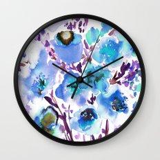 Bouquet Blue Wall Clock