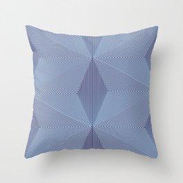 Geometric Illusion Bue-Gray Throw Pillow