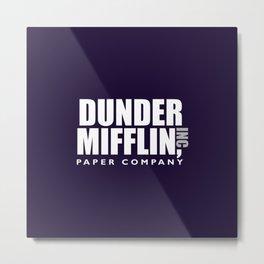 The Dunder Office Mifflin Inc. Design, T-Shirt, tshirt, tee, jersey, poster, Original Funny Gift Metal Print
