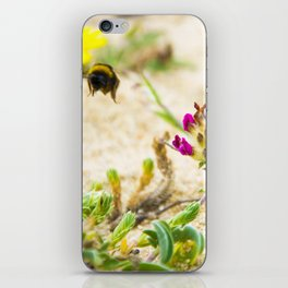 the flight of bumble bee on the bunes iPhone Skin