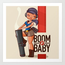 Boom Beach Fan Art - Zooka Art Print