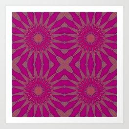 Magenta Pinwheel Flowers Art Print