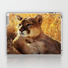 The Golden Thinker 🐾 Cougar 🐾 Laptop & iPad Skin