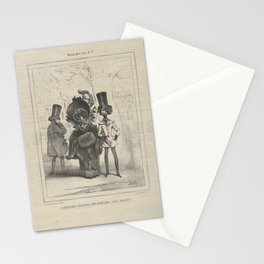 Museum of Laughter No. 3, last issue of the newspaper of the modes ,19th century Stationery Cards