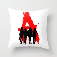 pretty little liars Throw Pillows featuring A's Liars by Lindsay6Link