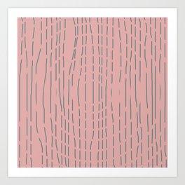 Aspen Illusion - Pink Art Print