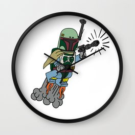 Pew pew pew Wall Clock