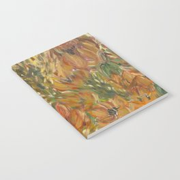 Floral orange print Notebook