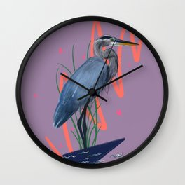 Great blue on the Bayou Wall Clock