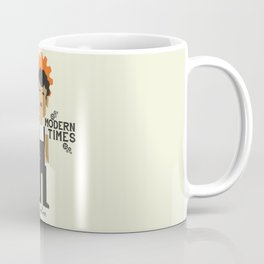 Modern Times, Charlie Chaplin, minimal movie poster, classic film, Charlot playbill Coffee Mug