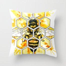 Hive Mentality Throw Pillow