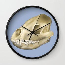 hyena skull Wall Clock