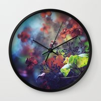 poetry Wall Clocks featuring Morning Poetry by Nikita Gill