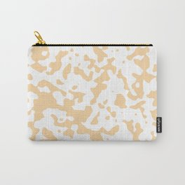 Spots - White and Sunset Orange Carry-All Pouch