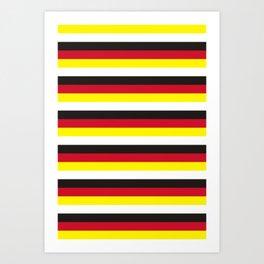 Brunei flag stripes Art Print