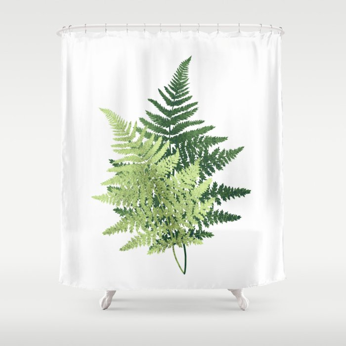 Summer Forest Ferns Shower Curtain