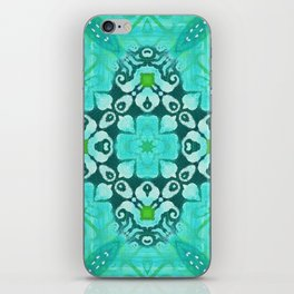 Tile Pattern in Turquoise iPhone Skin
