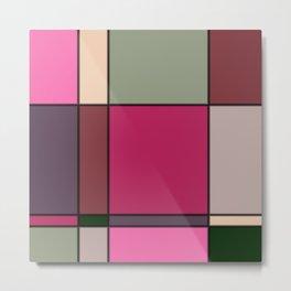 Minimalist Abstract Squares 4 Metal Print
