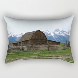 Mormon Row Iconic Barn Rectangular Pillow