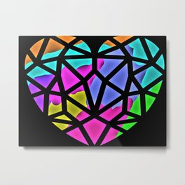 The Color of the Heart Metal Print