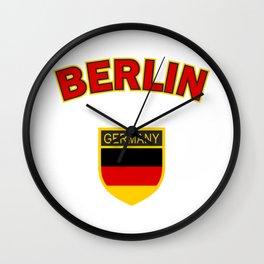 Berlin, Germany symbol, red Wall Clock