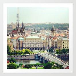 Prague De L'Autre Rive Art Print