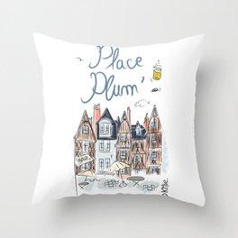 Place Plum'de Tours Throw Pillow