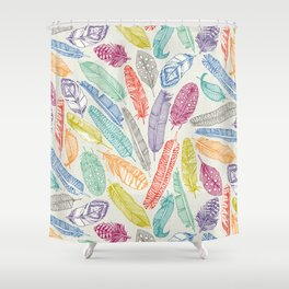 scattered feathers Shower Curtain