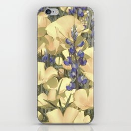 Mexican Goldpoppies & Desert Lupine by Murray Bolesta iPhone Skin