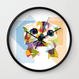 Little colorful cat Wall Clock