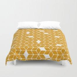 Poinsettia Stars – Marigold Palette Duvet Cover