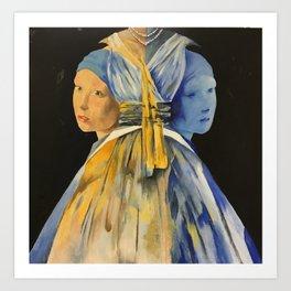 Nights with Vermeer Art Print