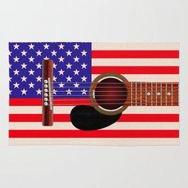 American Flag Guitar Rug